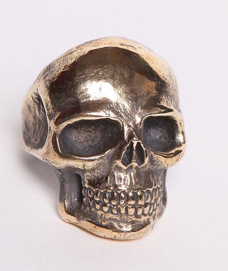 Vintage Brass large Skull Ring