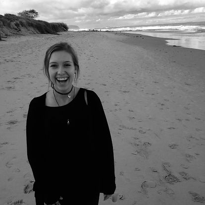 Amanda on a New Zealand beach