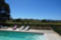 Vue des vignes depuis la piscine