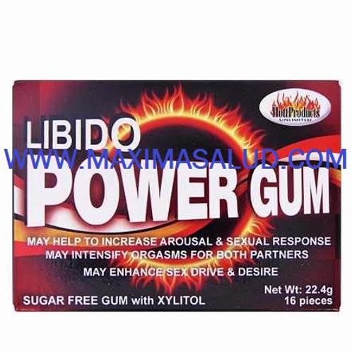 LIBIDO POWER GUM AFRODISIACO EN CHICLES PARA EXITAR A TU PAREJA
