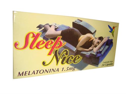 SLEEP NICE CON MELATONINA CAPSULAS PARA DORMIR PROFUNDAMENTE .