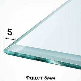 5мм – самый узкий вариант фацетирования. Используется для изделий малых размеров и применяется, в основном, в изготовлении зеркальных панно из множества элементов.