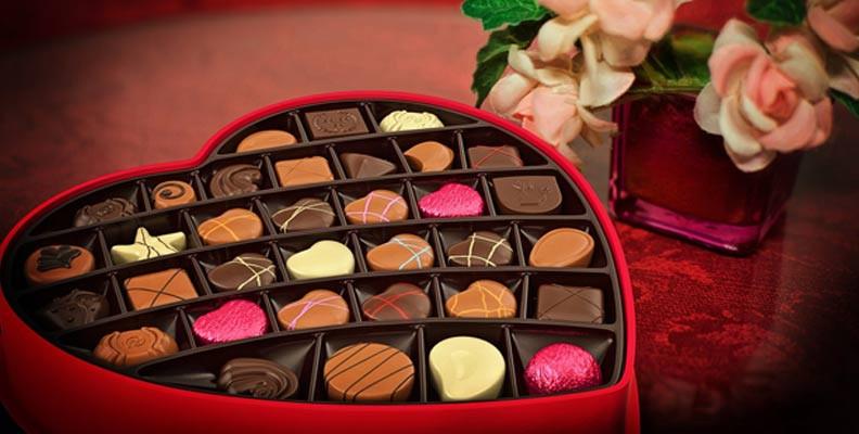 box of valentine's chocolates