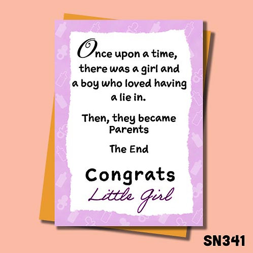 Then they became parents congratulations card - Little girl.