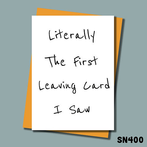 Literally the first leaving card I saw from Jolly Ginger Cards