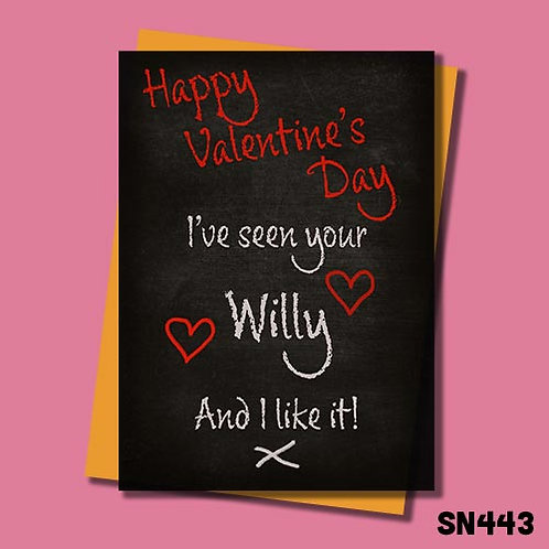 I've seen your willy valentines card from Jolly Ginger cards.