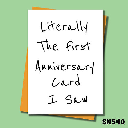 Literally the first anniversary card I saw!