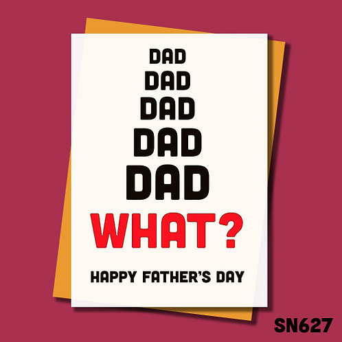What? Father's Day card.