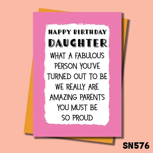 We really are amazing parents you must be so proud birthday card.