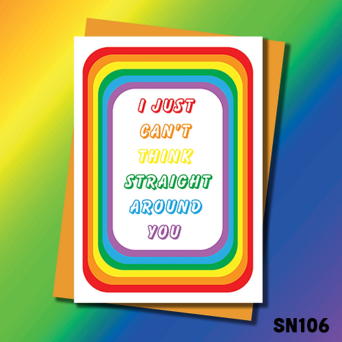 Loving greeting card for Lesbian, Gay or bisexual people. SN106.