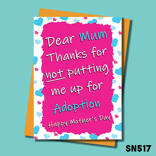 Adoption Mother's Day Card