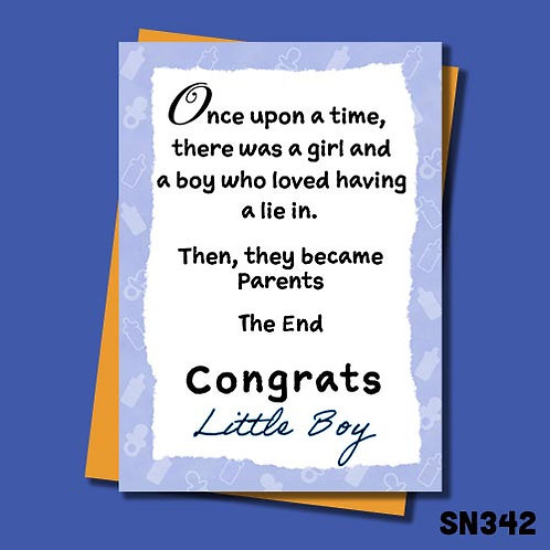 Then they became parents congratulations card - Little boy.