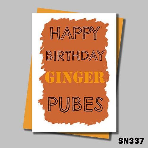 Happy Birthday ginger pubes.