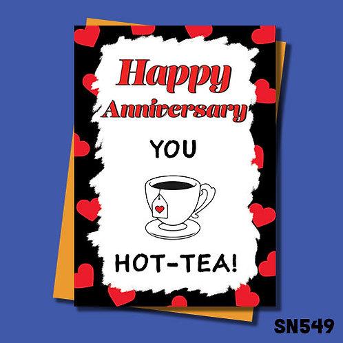 You Hot-Tea funny anniversary card.