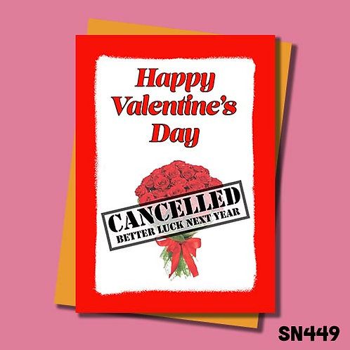 Valentine's Day is cancelled better luck next year.