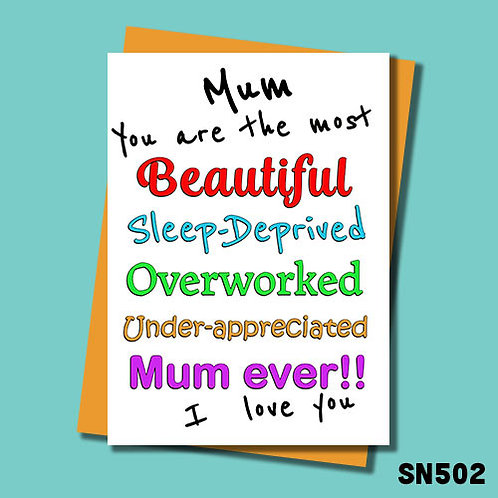 Best Mum ever Mother's Day card from Jolly Ginger Cards.