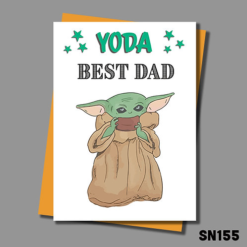 Funny Yoda Father's Day card from Jolly Ginger Cards. Yoda best Dad.