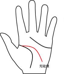 知能線6(向き-下向き)