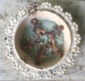 Zonder titel, keramiek en glas