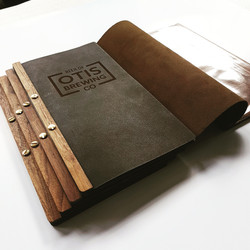 Leather and Walnut menu's