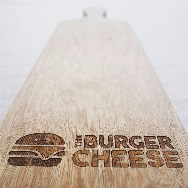 Laser engraved serving boards