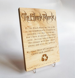The Black Mark tattoo display