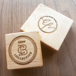 Maple wood Coffee cup stamps