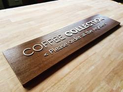 custom wooden signage