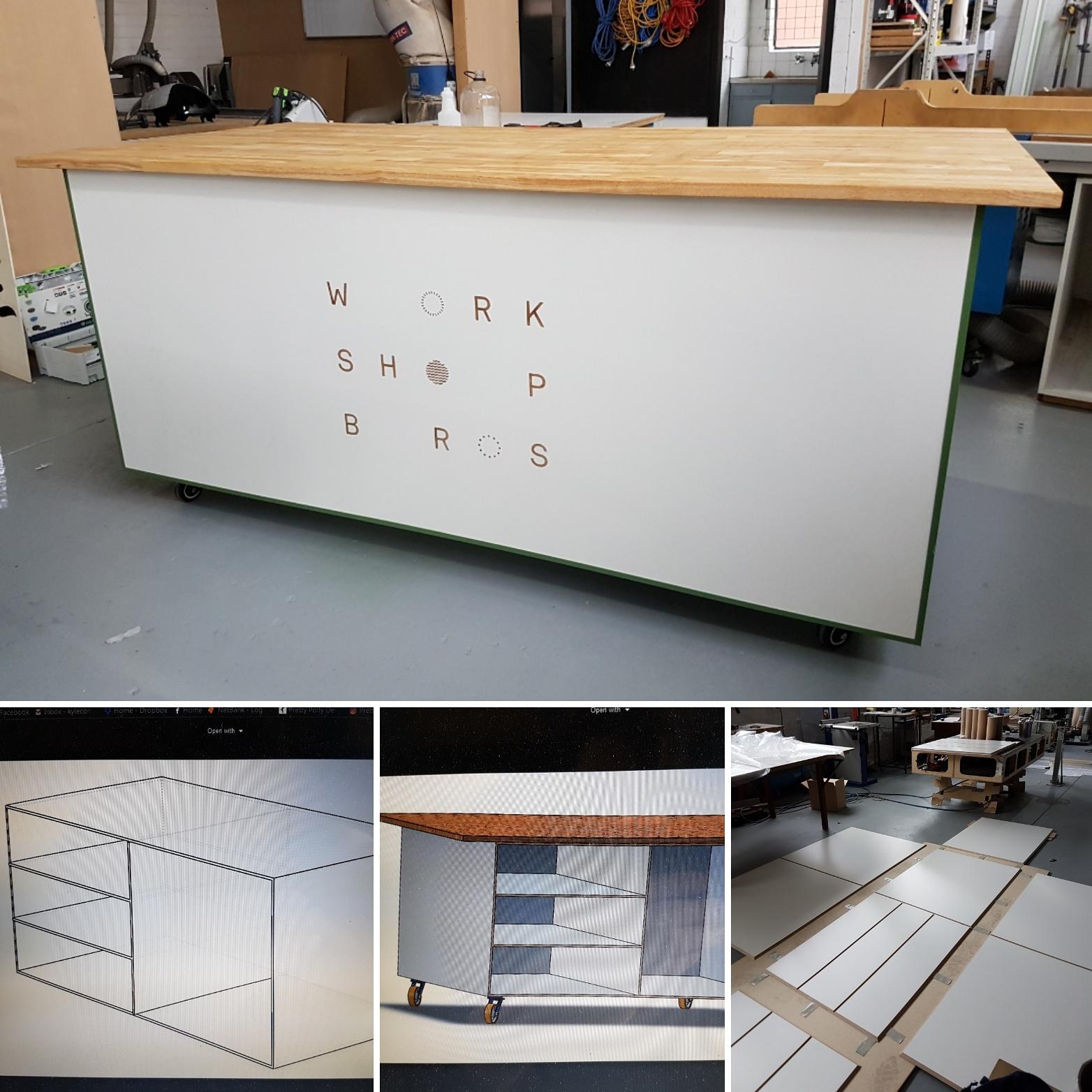 Workshop Bro's coffee cart.