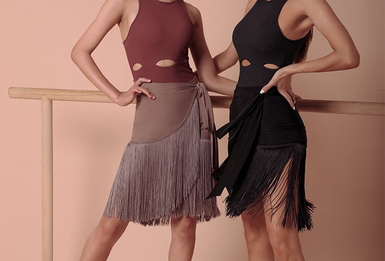 Get The Move Fringes Skirt #2028