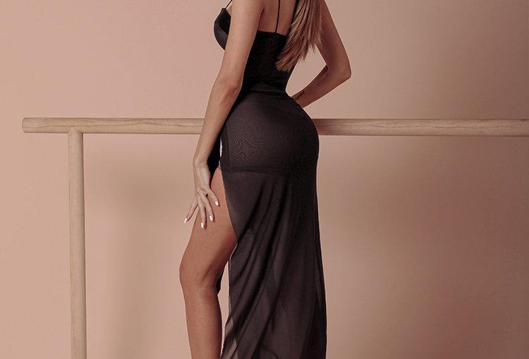 Brownie Split Dress #2033H