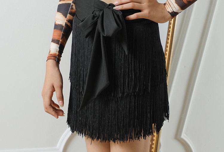 Matching ME Fringes Wrapped Skirt #19134