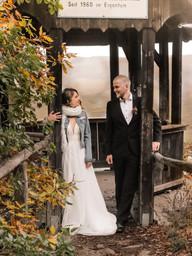 Freie Trauung Brautpaarshooting Herbst