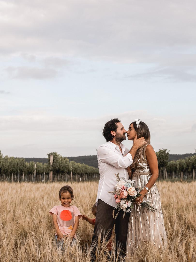 Boho Hochzeit Sommer Getreidefeld