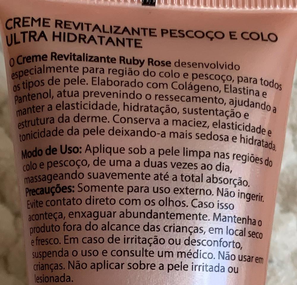 Creme revitalizante Ice Rose Ultra Hidratante Ruby Rose