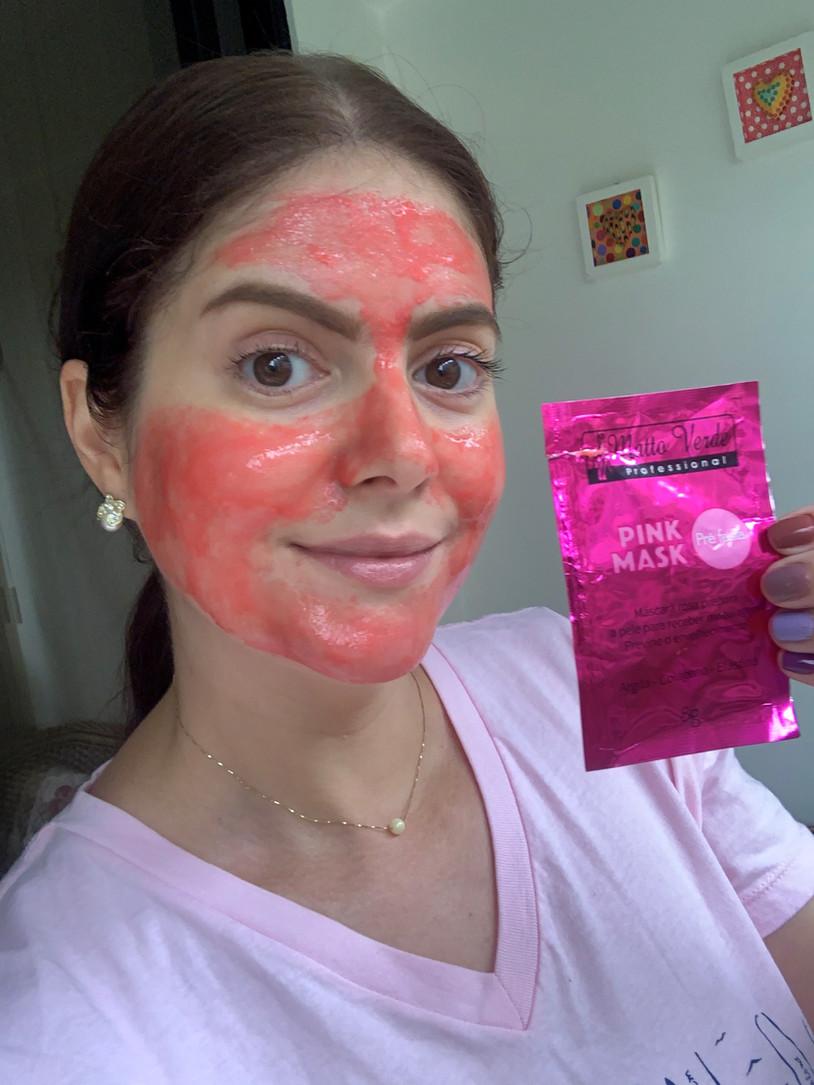Máscara pink sachê Pré-Festa Matto Verde