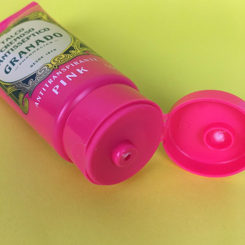 Testei Talco cremoso antisséptico Granado Linha Pink