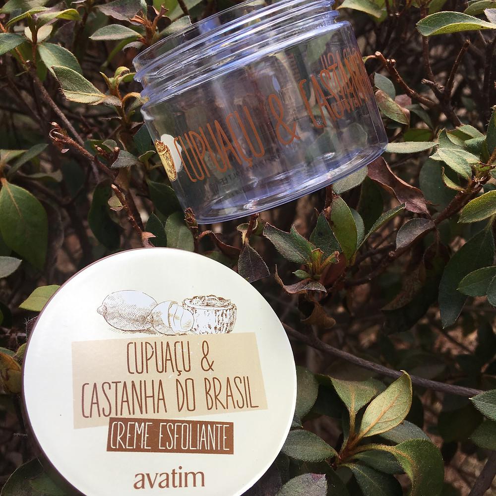 Testei Creme Esfoliante Cupuaçu e Castanha do Brasil Avatim