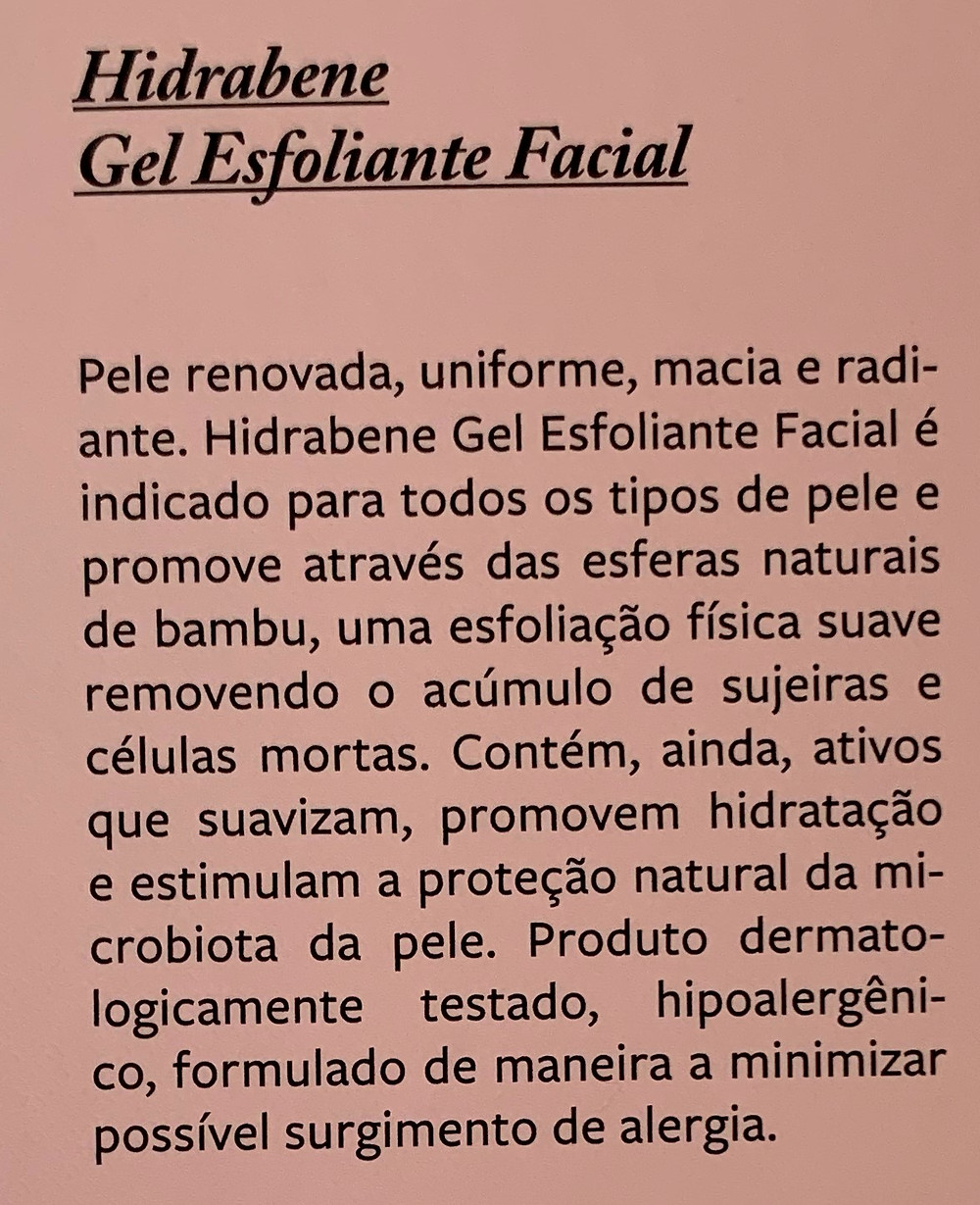 Gel esfoliante facial Hidrabene
