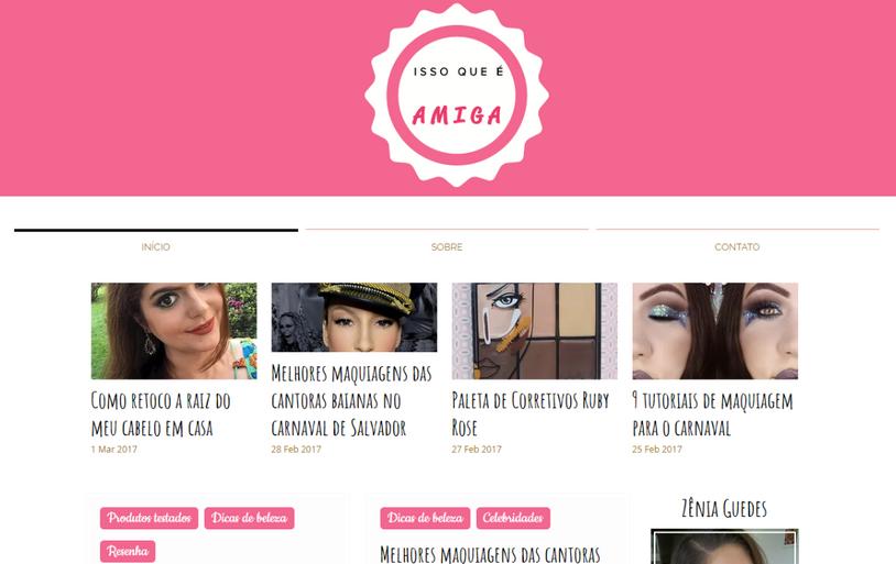 Blog ISSO QUE É AMIGA está de cara nova!