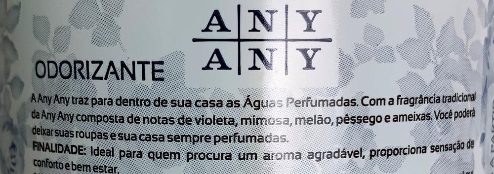 Odorizante águas perfumadas Any Any [água de lençol]