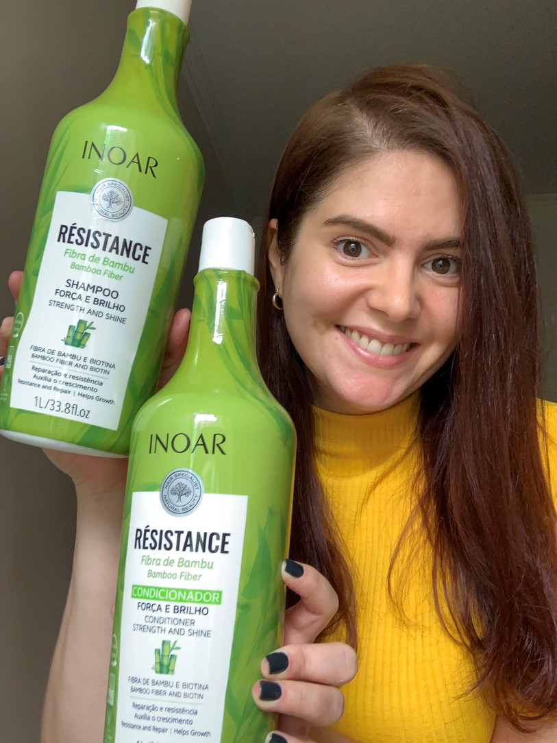 Résistance Fibra de Bambu Inoar | Shampoo e condicionador