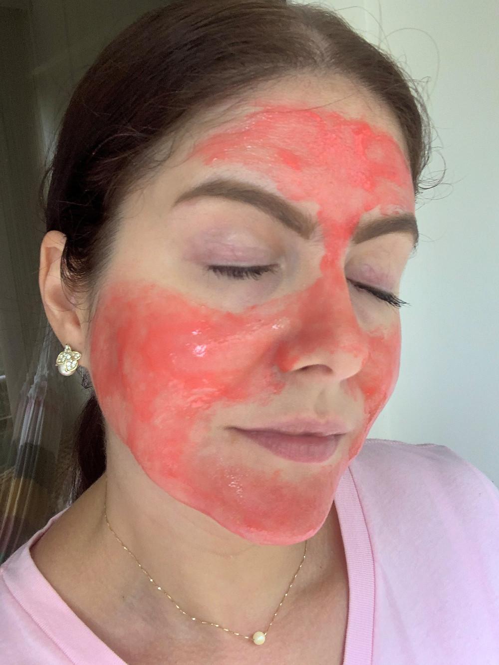 Máscara pink sachê Pré-Festa Matto Verde Professional