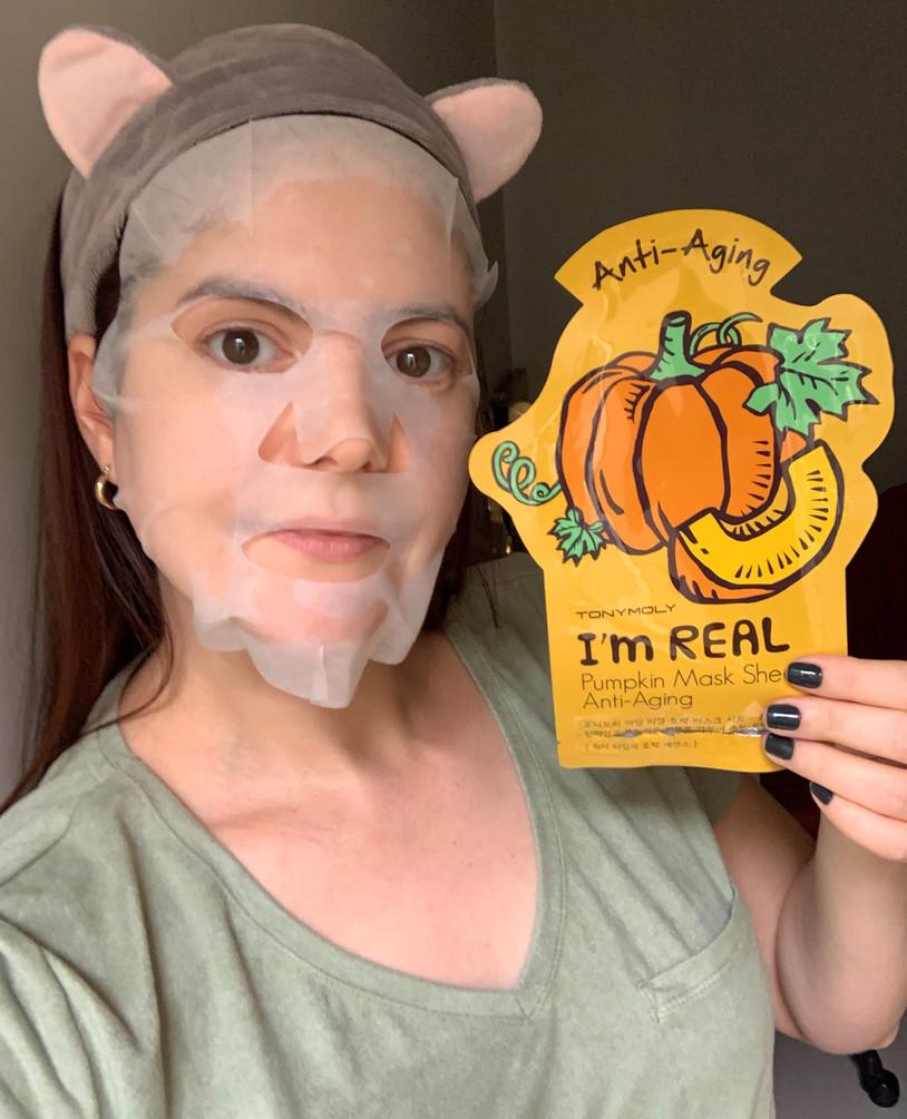 Máscara facial de tecido de abóbora | Pumpkin I'm Real TonyMoly