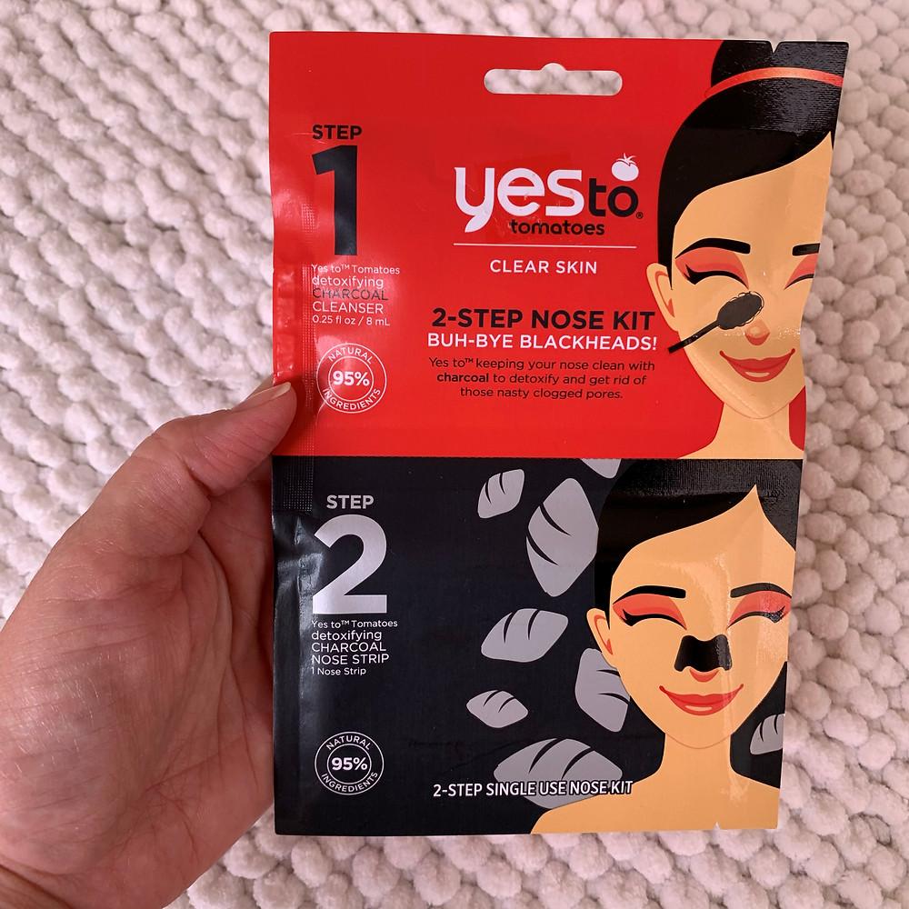 YesTO Tomatoes 2-Step Single Use Nose Kit Buh-Bye Blackheads