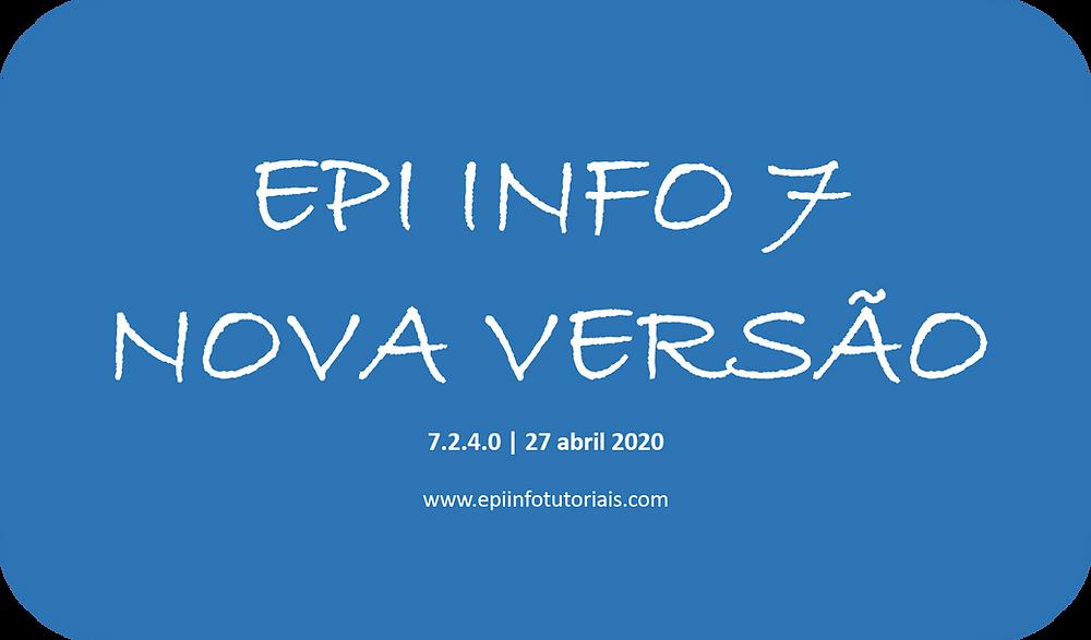Epi Info 7 | Versão atualizada Abril 2020