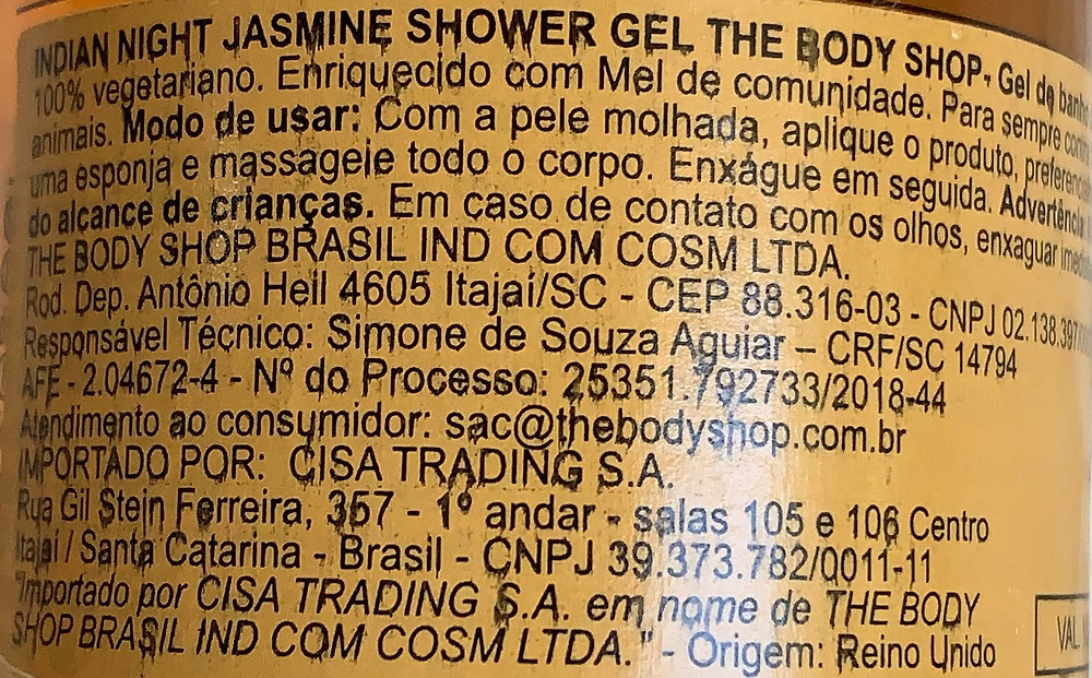 Gel de banho Indian Jasmine Night The Body Shop
