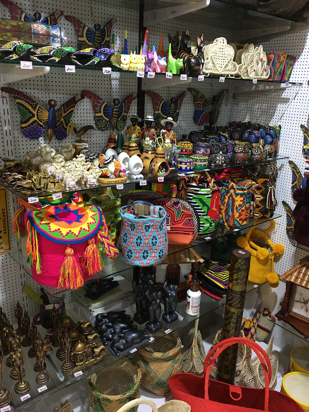 Bolsas colombianas coloridas Cartagena