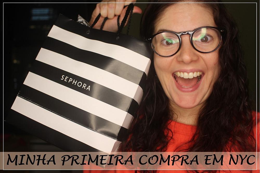 Primeira compra na Sephora de Nova York