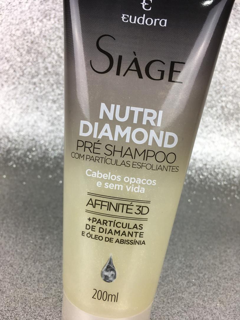 Nutri Diamond Pré-Shampoo Siàge Eudora   Testei